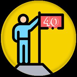 40 pont